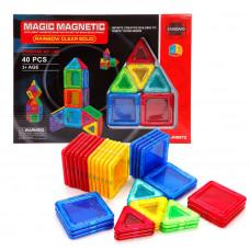 Конструктор магнитный 40 деталей Magic Magnetic Rainbow Наша игрушка 638031