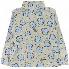 Джемпер серый с голубыми цветами кашкорсе для девочки Юлла 63400304