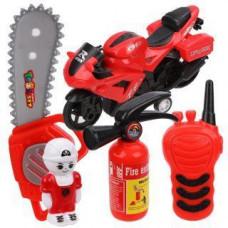 Игровой набор «Пожарного» с пожарной машиной, в пакете, 5 предметов Наша игрушка