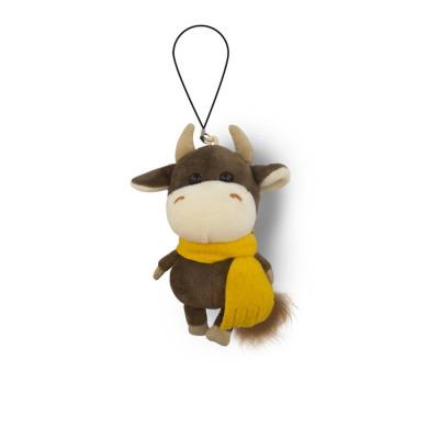 Мягкая игрушка, Бычок Коричневый в Желтом Шарфике, 11см, MT-MRT022028-11