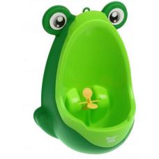 Писсуар для мальчиков Лягушка с прицелом, зеленый