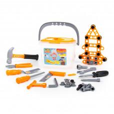 Детский набор инструментов Полесье в ведёрке (72 элемента) Wader Quality toys