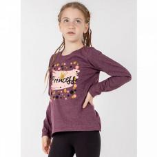 Джемпер princess кулирка для девочки бордовый Юлла 498к