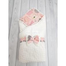 Конверт-одеяло на выписку для новорожденного Горошинки Лето Марусяка Ннв-05-Гор
