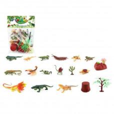 Набор рептилий и насекомых, 4 фигурки, 4 аксессуара, пакет