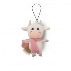 Мягкая игрушка Maxitoys «Коровка Белая в Розовом Шарфике», 11см, MT-MRT022026-11