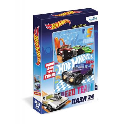 Пазл Hot Wheels «Непобедимые» 24 элемента Оригами 5901
