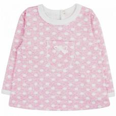 Кофточка для новорожденной девочки розовая в горошшек интерлок Юлла 907и/п