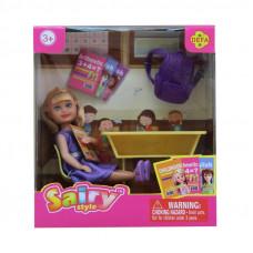 Кукла Defa Sairy Школьница, 15 см, 6 аксесс., в ассорт.