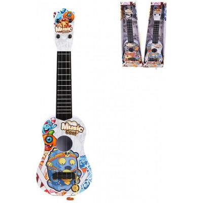 Гитара Монстрики 57 см, 4 стуны, в ассортименте, коробка НАША ИГРУШКА 641668