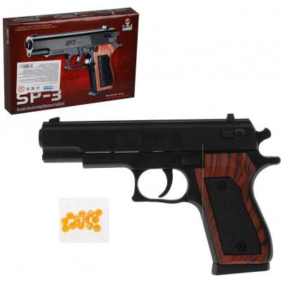 Пистолет механический, в комплекте: пули 10шт, коробка НАША ИГРУШКА 800186