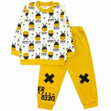 Костюм спортивный для мальчика желтый футер-двунитка Юлла 8009300202