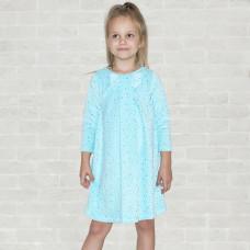 Платье голубой велюр для девочки Юлла 218В