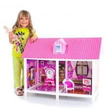 Дом для куклы в наборе с куклой 29см, коробка 84х41х63 Наша игрушка 632958