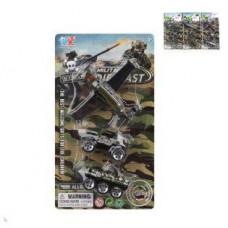 Игр.набор Военный 1:64, транспорт 3 шт., металл, блистер, в ассортименте