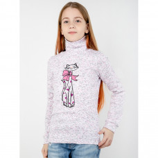 Водолазка светло-розовая кашкорсе для девочки Юлла 63401201