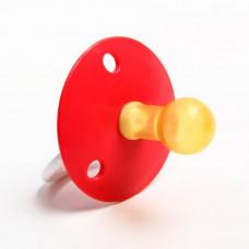 Пустышка латексная классическая «Солнышко» с кольцом, от 0 мес., цвета МИКС