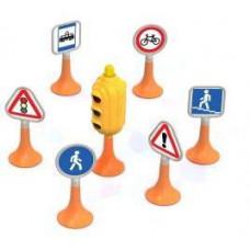 Набор Дорожные знаки №1 светофор, 6 знаков