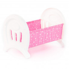 Кроватка розовая сборная для кукол большая (в пакете) Полесье 55996