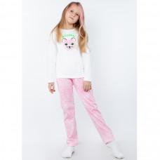 Пижама для девочки с принтом интерлок Юлла 279200203