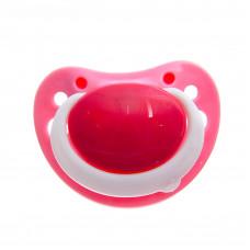 Пустышка силиконовая ортодонтическая, от 3 месяцев, цвет розовый