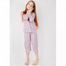 Пижама розовая в цветочек рибана Юлла 12567001