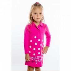 Платье розовое с воротничком, пике 582/2п Юлла