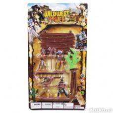 Игровой набор «Индейцы» Wildwest power, 4 фигурки, аксессуары Наша игрушка