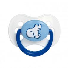 Пустышка силиконовая круглая Animals, от 0 до 6 месяцев, цвет МИКС