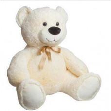 Мягкая игрушка Медведь «Микфа» Fancy (Фэнси), бело-молочный с бантиком MMI2