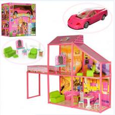 Дом для куклы с машиной, в комплекте 102 предмета, коробка 56x25x50 Наша игрушка