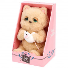 Мягкая игрушка Angel Collection Киска Персик, с мышкой