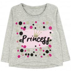 Джемпер princess кулирка для девочки серый Юлла 498к