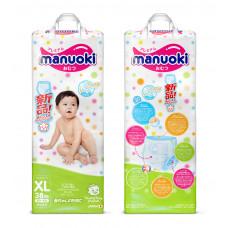 Подгузники-трусики Manuoki XL 12+ кг 38 шт