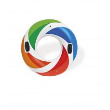"""Надувной круг """"Цветной Вихрь"""" с ручками"""