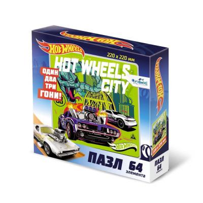 Пазл Hot Wheels «Город» 64 элементов Оригами 5904