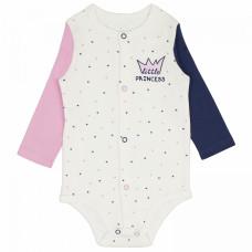 Боди с длинным рукавом для новорожденной девочки Prince and Princess интерлок Юлла 554и/пр ап