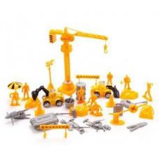 Игровой набор «Строители», 8 фигурок, подъемный кран, 2 техники, 29 аксессуаров Наша игрушка