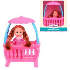 Кукла Мегги с кроваткой 9см.
