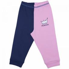 Штанишки для новорожденной девочки сине-розовые Prince and Princess интерлок Юлла 670и/пр ап