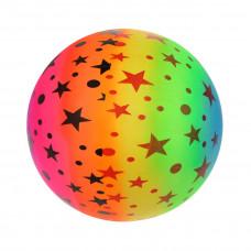 Мяч детский 22 см, Звездочки неон, в ассорт.